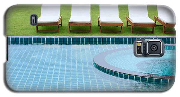 Swimming Pool And Chairs Galaxy S5 Case