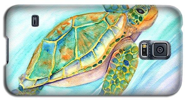 Swimming, Smiling Sea Turtle Galaxy S5 Case
