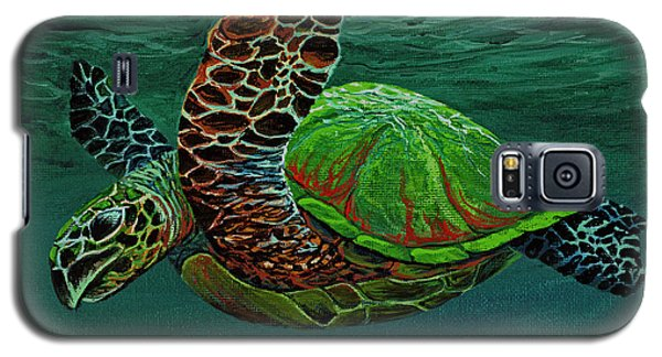 Galaxy S5 Case featuring the painting Swimming With Aloha by Darice Machel McGuire