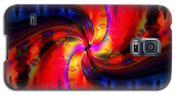 Galaxy S5 Case featuring the photograph Swirl Delight by Cherie Duran