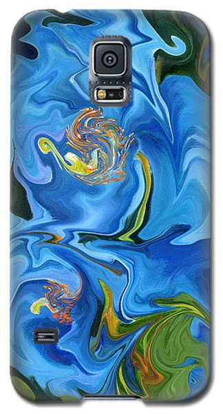 Swirled Blue Poppies Galaxy S5 Case