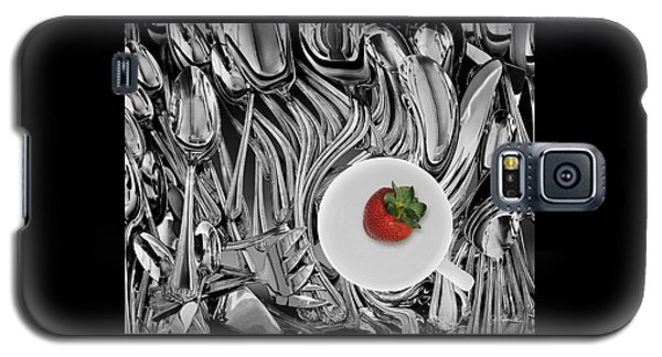 Swirled Flatware And Strawberry Galaxy S5 Case