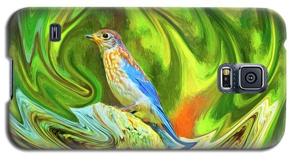 Swirling Bluebird  Galaxy S5 Case