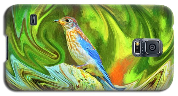 Swirling Bluebird Abstract Galaxy S5 Case