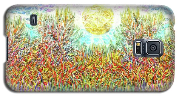 Galaxy S5 Case featuring the digital art Swirling Brilliant Trees - Boulder County Colorado by Joel Bruce Wallach