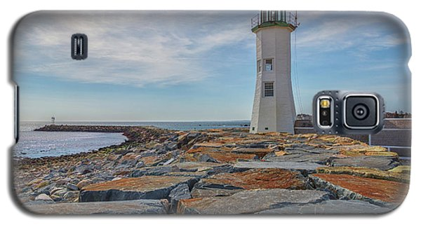Swirling Clouds At Scituate Lighthouse Galaxy S5 Case