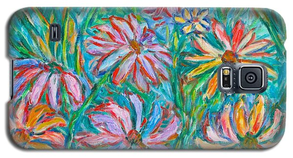 Galaxy S5 Case featuring the painting Swirling Color by Kendall Kessler