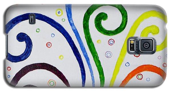 Swirls Galaxy S5 Case by Sonali Gangane