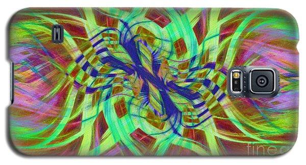 Swirly Floral Mandala 01 Galaxy S5 Case
