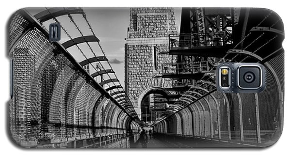 Sydney Harbor Bridge Bw Galaxy S5 Case by Diana Mary Sharpton