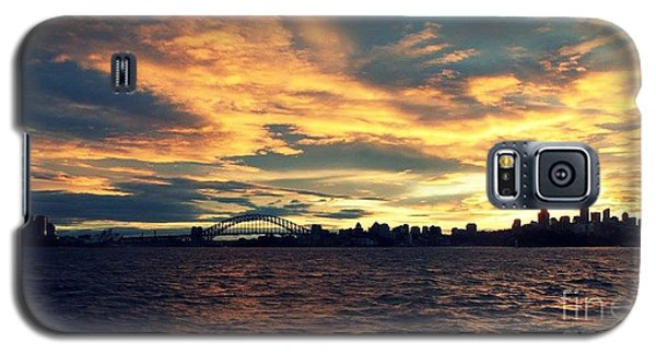 Sydney Harbour At Sunset Galaxy S5 Case by Leanne Seymour
