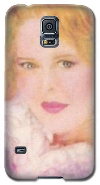 Galaxy S5 Case featuring the drawing Sylvia by Denise Fulmer