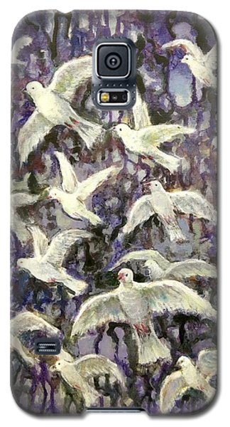 Galaxy S5 Case featuring the painting Symbol  Of Peace by Laila Awad Jamaleldin