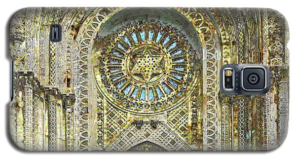 Galaxy S5 Case featuring the mixed media Synagogue by Tony Rubino