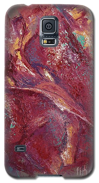 Galaxy S5 Case featuring the painting Syncopation 4 by Mini Arora