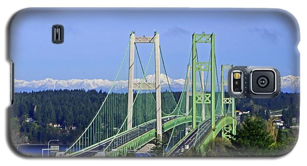 Tacoma Narrows Bridge With Olympic Mountains Galaxy S5 Case