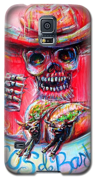 Galaxy S5 Case featuring the painting Tacos De Barbacoa by Heather Calderon