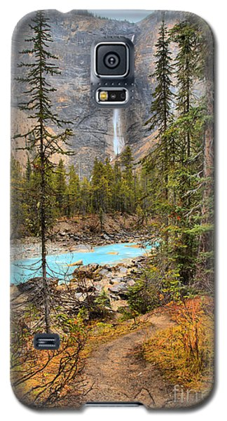 Galaxy S5 Case featuring the photograph Takakkaw Falls Fall Portrait by Adam Jewell