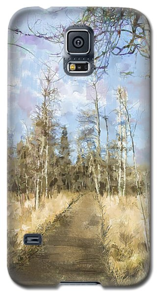 Galaxy S5 Case featuring the painting Take A Walk by Annette Berglund