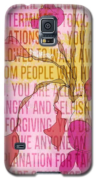 Galaxy S5 Case featuring the digital art Take Care Of Yourself by Lisa Noneman