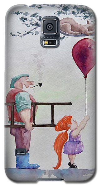 Galaxy S5 Case featuring the painting Take It Please by Geni Gorani