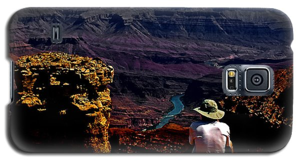 Galaxy S5 Case featuring the photograph Taking In The View - Grand Canyon South Rim by George Bostian