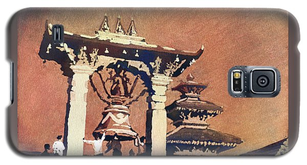Galaxy S5 Case featuring the painting Taleju Bell- Patan, Nepal by Ryan Fox