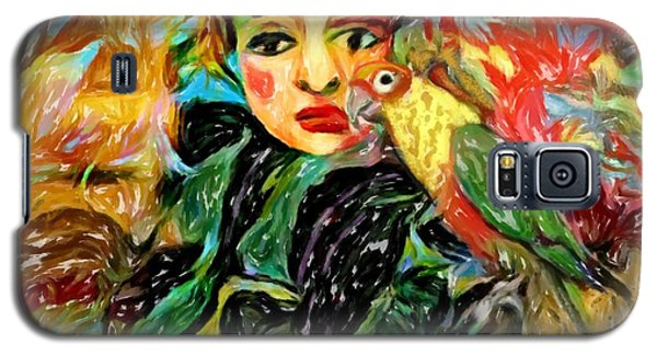 Galaxy S5 Case featuring the digital art Talk To Me by Alexis Rotella