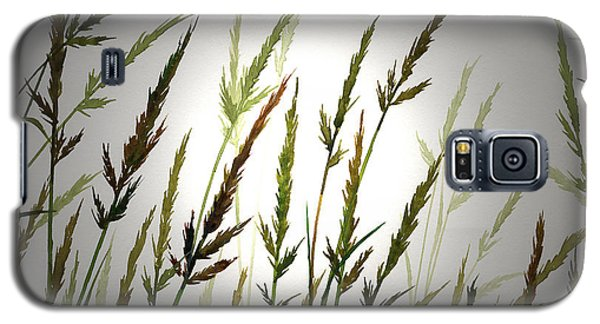 Galaxy S5 Case featuring the digital art Tall Grass And Sunlight by James Williamson