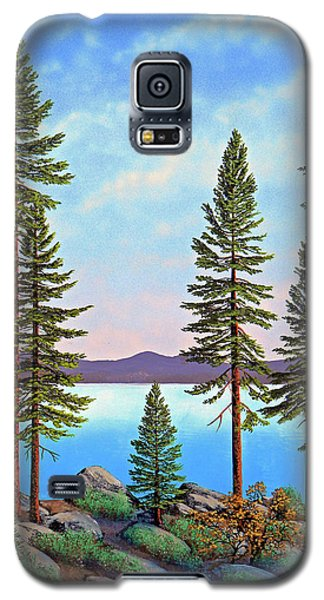 Tall Pines Of Lake Tahoe Galaxy S5 Case