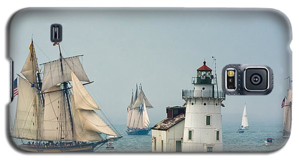 Tall Ships At Cleveland Lighthouse Galaxy S5 Case