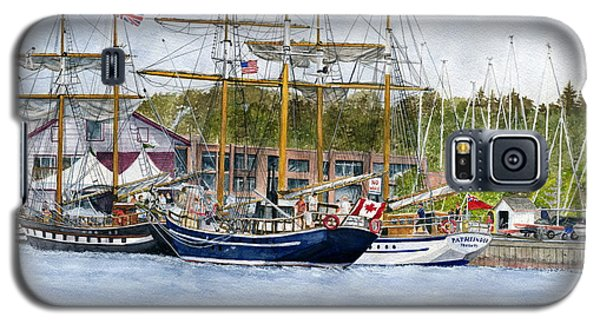 Galaxy S5 Case featuring the painting Tall Ships Festival by Melly Terpening