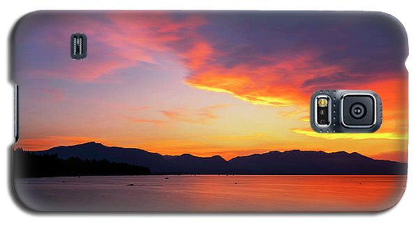 Galaxy S5 Case featuring the photograph Tallac On Fire by Brad Scott