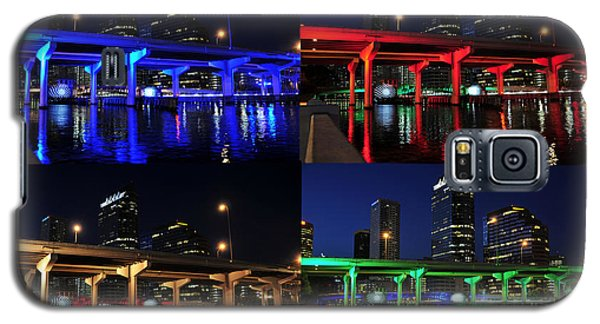 Galaxy S5 Case featuring the photograph Tampa's Colorful Bridges by David Lee Thompson