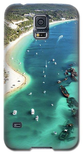 Tangalooma Wrecks Galaxy S5 Case by Peta Thames