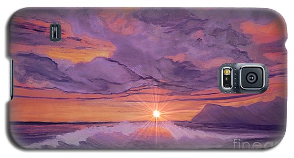 Galaxy S5 Case featuring the painting Tangerine Sky by Holly Martinson