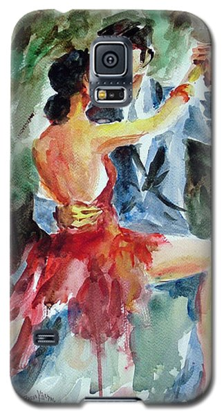 Galaxy S5 Case featuring the painting Tango In The Night by Faruk Koksal