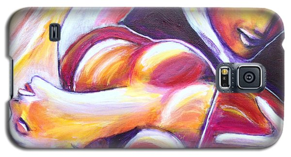 Galaxy S5 Case featuring the painting Tango Passion by Anya Heller