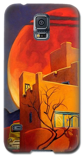 Taos Wolf Moon Galaxy S5 Case by Art West