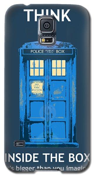 Tardis - Think Inside The Box Galaxy S5 Case
