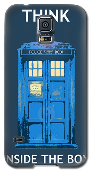 Tardis - Think Inside The Box Galaxy S5 Case by Richard Reeve