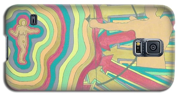 Galaxy S5 Case featuring the painting Target by Erika Chamberlin