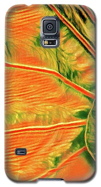 Taro Leaf In Orange - The Other Side Galaxy S5 Case