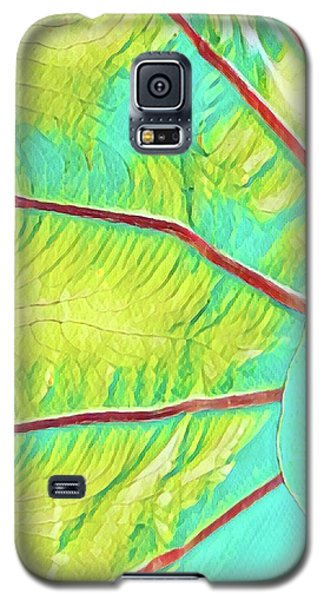 Taro Leaf In Turquoise - The Other Side Galaxy S5 Case