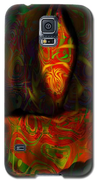 Galaxy S5 Case featuring the painting Tarot Candle by Kevin Caudill