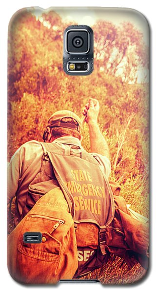 Tasmania Search And Rescue Ses Volunteer  Galaxy S5 Case by Jorgo Photography - Wall Art Gallery
