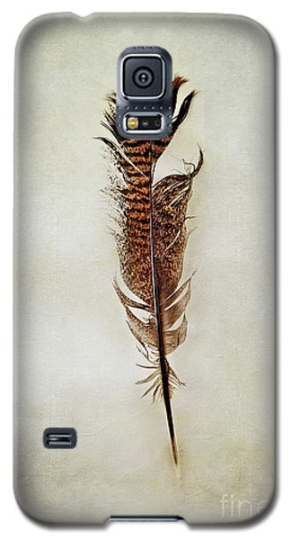 Galaxy S5 Case featuring the photograph Tattered Turkey Feather by Stephanie Frey