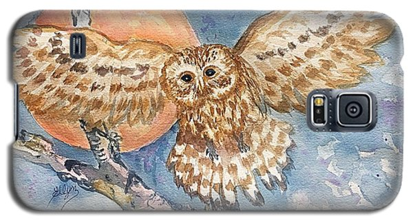 Tawny Owl And Hunters Moon  Galaxy S5 Case