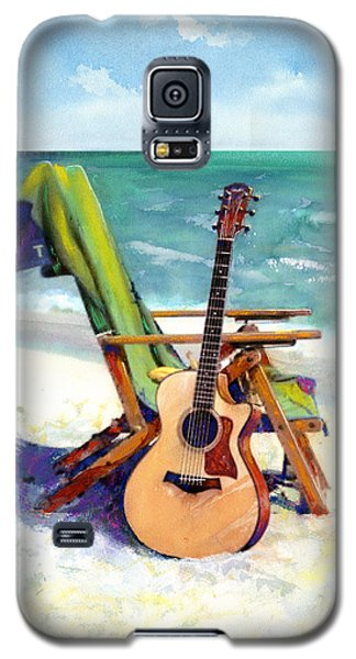 Galaxy S5 Case featuring the painting Taylor At The Beach by Andrew King