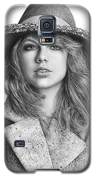 Taylor Swift Portrait Drawing Galaxy S5 Case by Shierly Lin